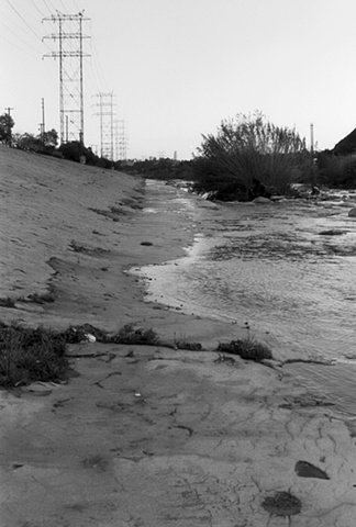 LA River, Earthen Bed, Glendale Narrows