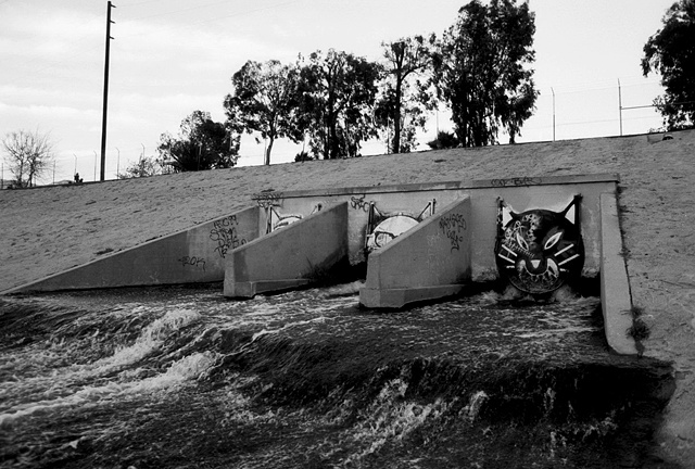 LA River, Cat Drains, Glendale Narrows, 1997