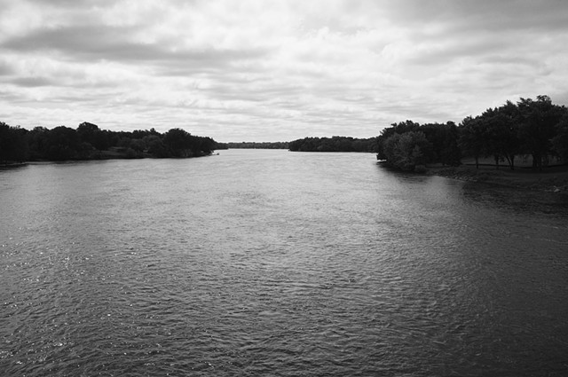 Mississippi River, View from Highway 169 Bridge, Anoka