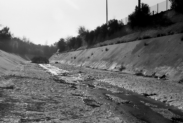 LA River, Meandering, Near Highland Park, 1997
