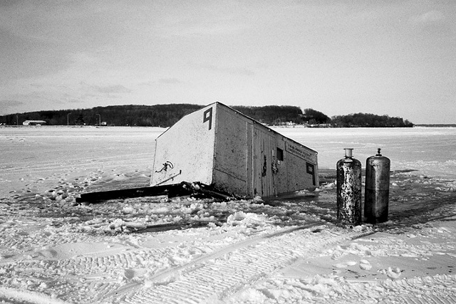 Ice Fishing House, Lake Mille Lacs