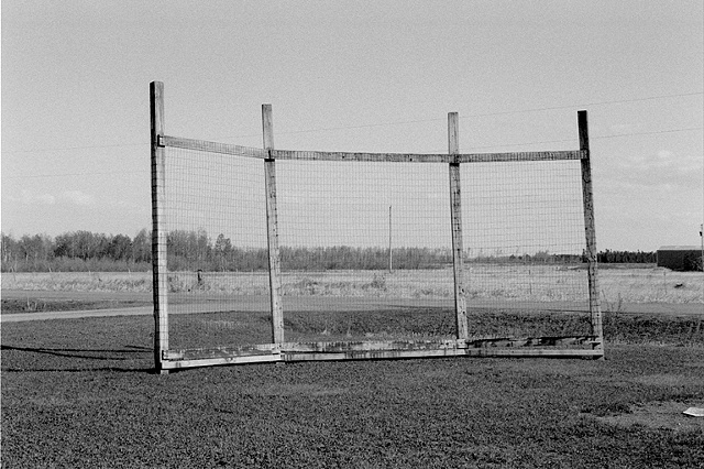 Baseball Backstop, Floodwood, Minnesota