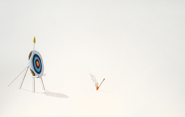 archery, target, arrow, flaming