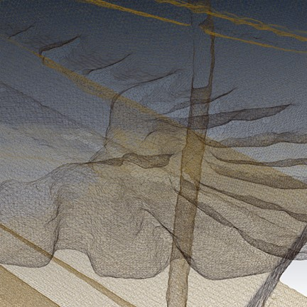Detail 2D image from 3D triangulated scan of Jester Shoes