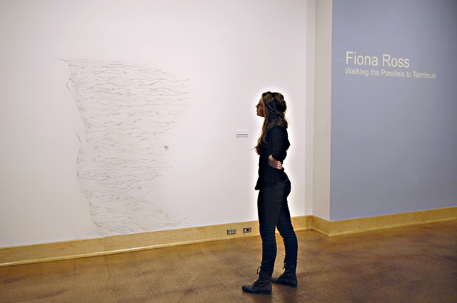 Walking woman, installation view
