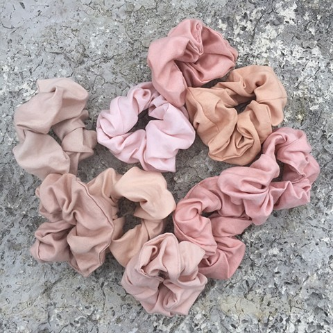 'avocado-dyed pink' scrunchie