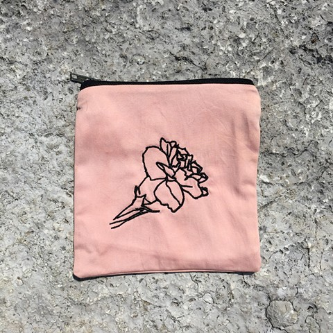 embroidered carnation, 3