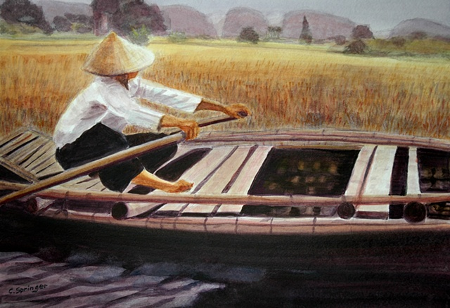 Vietnamese Boat Woman