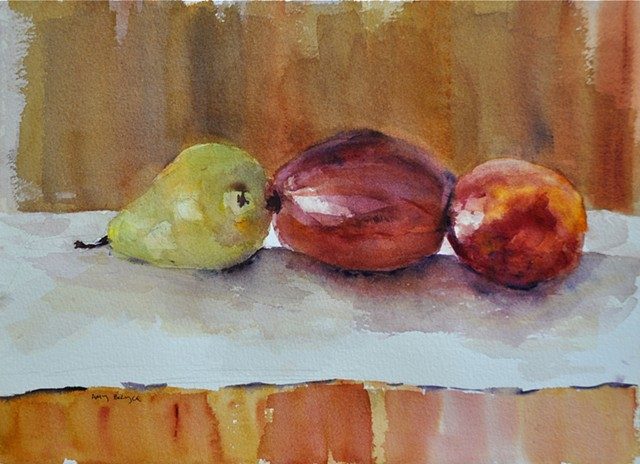Pears and Peach   by Amy Bryce