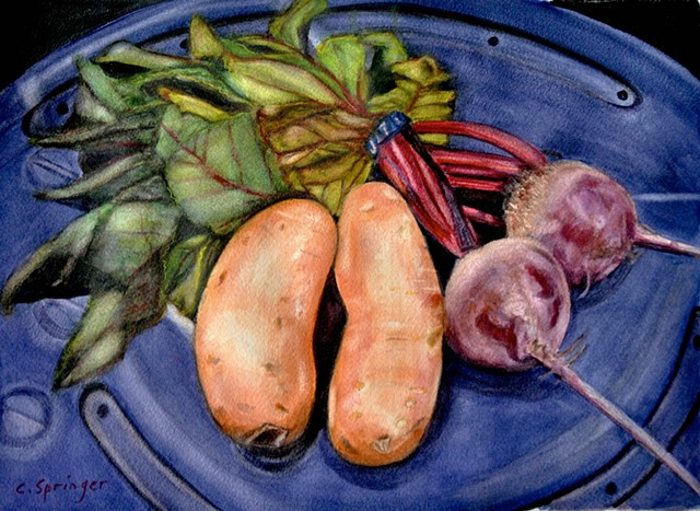 Beets and Sweet Potatoes  by Connie Springer