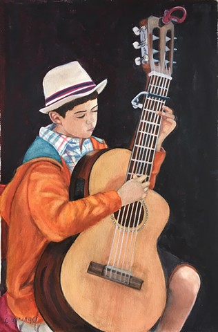 Boy and his Guitar