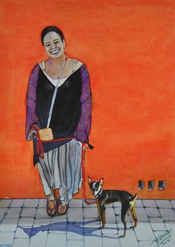 Mary Mae and Dog