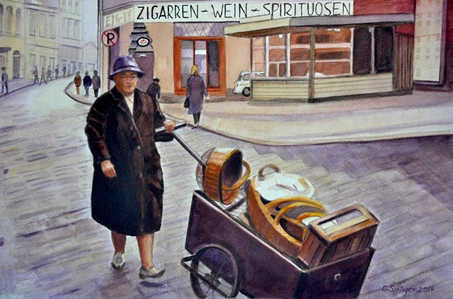 German Street Woman