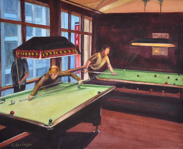 Shooting Pool in Berlin