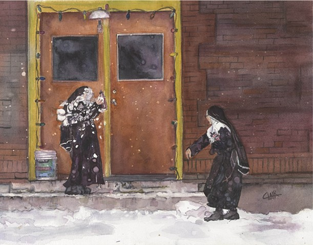 Nuns' Snowball Fight, St. Anne's Convent