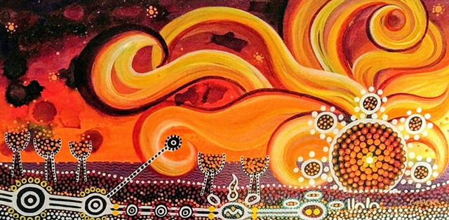 aboriginal sun story telling love fate walk path death circle journey #lauragammonsstudios laura gammons @lauragammons #camplaura #lauragammons