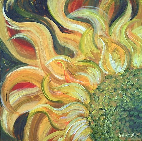 sun, sunflower, abstract
