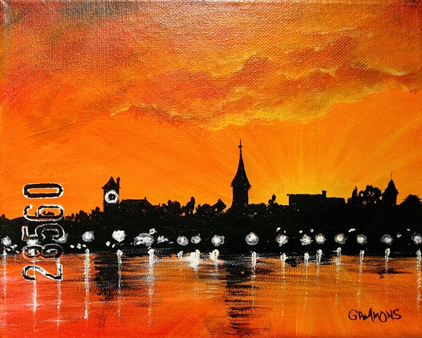 sunset new bern laura gammons studios river rats 28560 #lauragammonsstudios laura gammons @lauragammons #camplaura #lauragammons