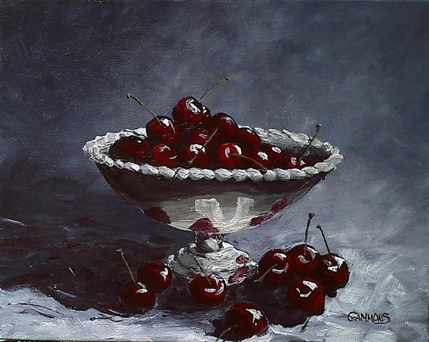 cherries, silver, grey, life, pits, optimism
