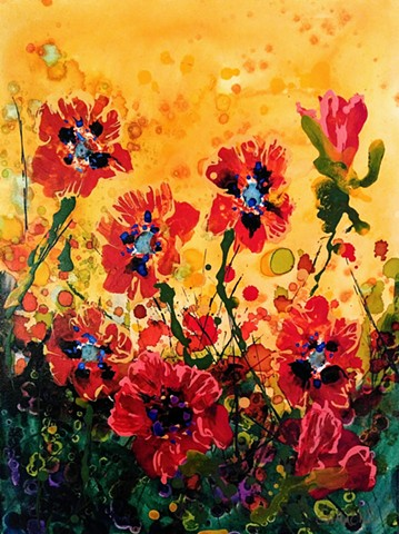 rising with the sun poppies flowers glow sunrise  laura gammons #lauragammonsstudios laura gammons @lauragammons #camplaura #lauragammons
