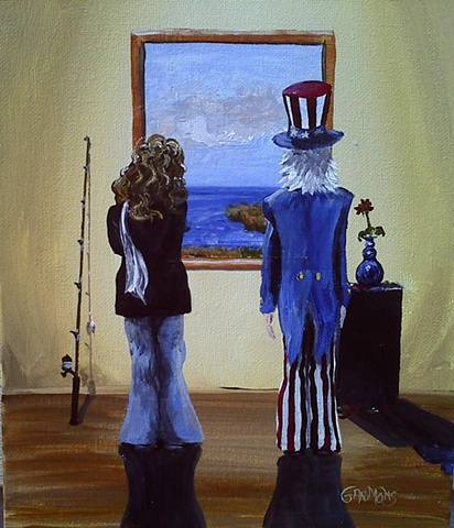 art, hippie, gammons, patriotic, art appreciation,american, uncle sam