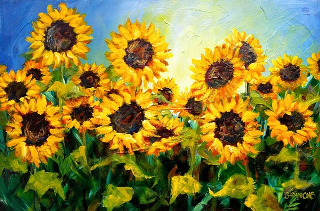 sunflower summer love loving field laura gammons #lauragammonsstudios laura gammons @lauragammons #camplaura #lauragammons