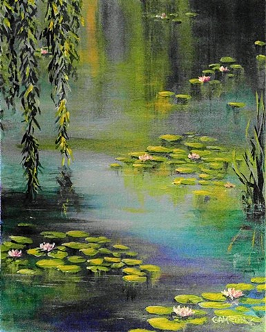 #lauragammonsstudios laura gammons @lauragammons #camplaura #lauragammons pond, blue, reflection, sky, water lily, lilies, flower, blossom, bloom, laura gammons lauragammons.com #lauragammonsstudios