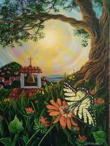 mexican fire vine butterfly mission bell ocean island