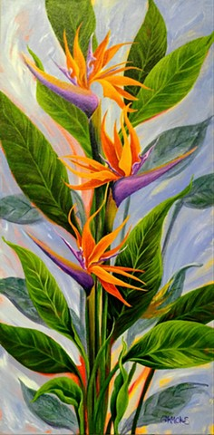 #lauragammonsstudios laura gammons @lauragammons #camplaura #lauragammons tropical flower homecoming orange island paradise bird laura gammons lauragammons.com #lauragammonsstudios