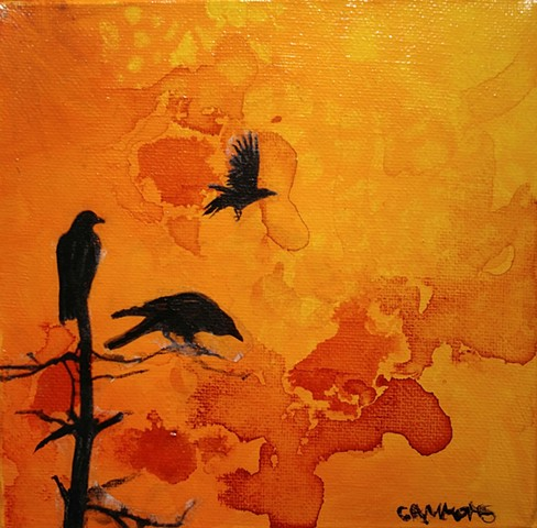 crow sunset blackbird fly #lauragammonsstudios laura gammons @lauragammons #camplaura #lauragammons