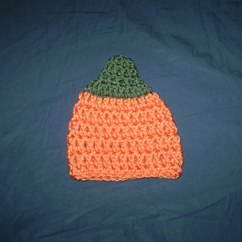 hand-crocheted pumpkin crocheted hat