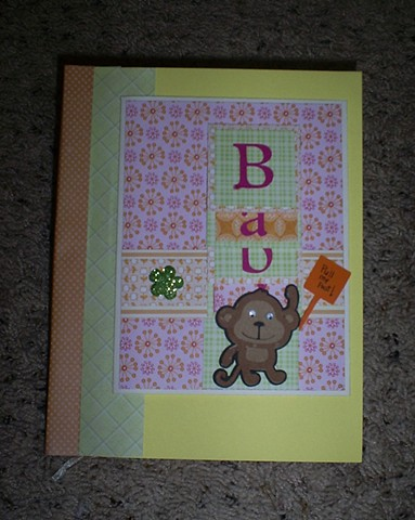 baby shower card scrapbook by ashley seaman