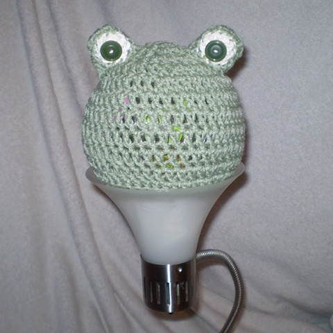 hand crocheted frog baby hat by ashley seaman