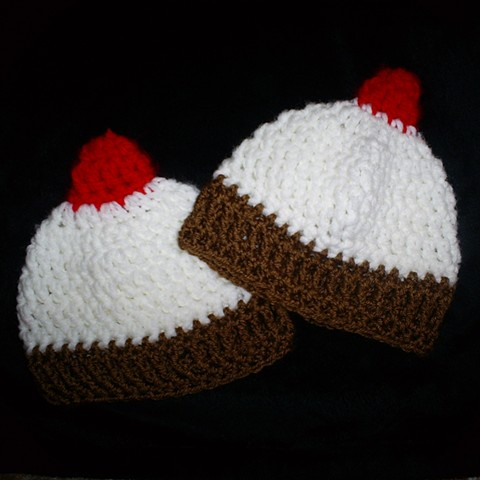 hand crocheted cupcake baby hat by ashley seaman