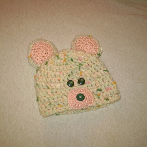 hand crocheted bear baby hat by ashley seaman