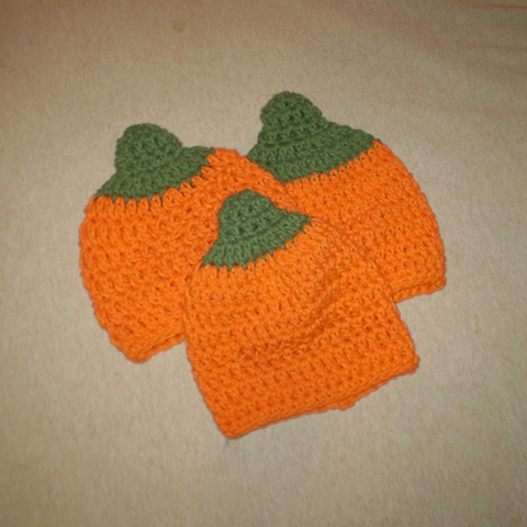hand crocheted pumpkin baby hat by ashley seaman
