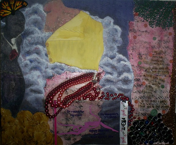 breast cancer survivor inspired mixed media by ashley seaman
