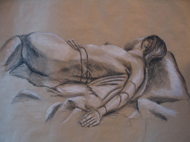 figure drawing by ashley seaman