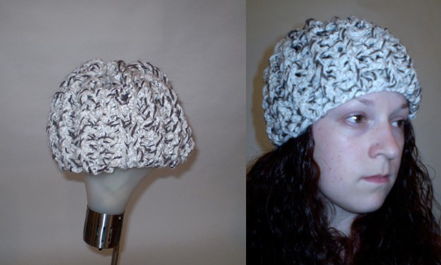 hand-crocheted hat by ashley seaman