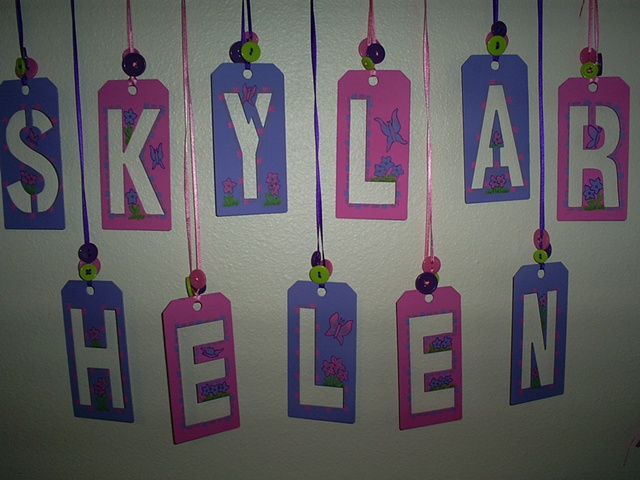 unique baby name wall decor by ashley seaman