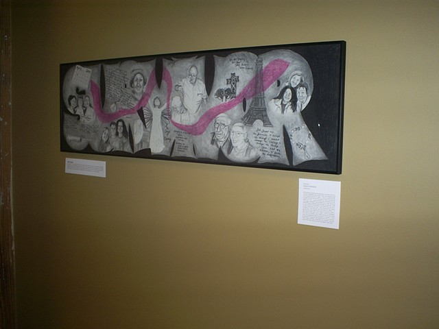 drawing of breast cancer survivor story by ashley seaman