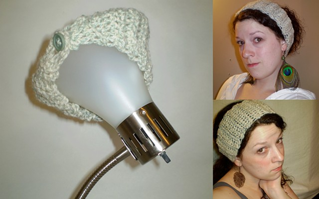 hand-crocheted button headwrap by ashley seaman