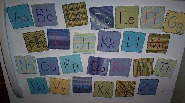 handmade alphabet magnets