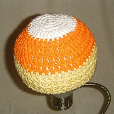 hand crocheted candy corn baby hat by ashley seaman