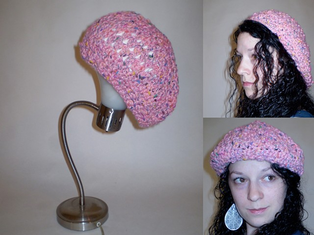 hand-crocheted beret by ashley seaman