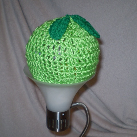 hand-crocheted apple crocheted hat