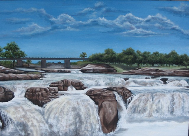 sioux falls oil painting by ashley seaman