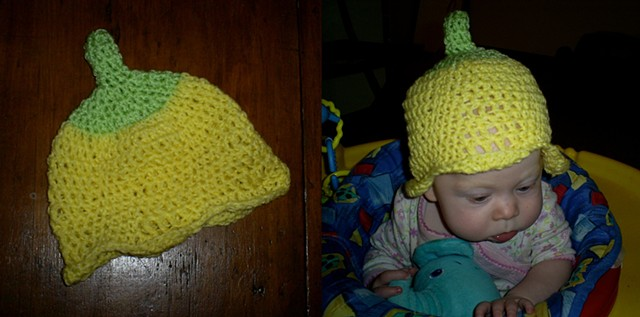 hand crocheted flower baby hat by ashley seaman