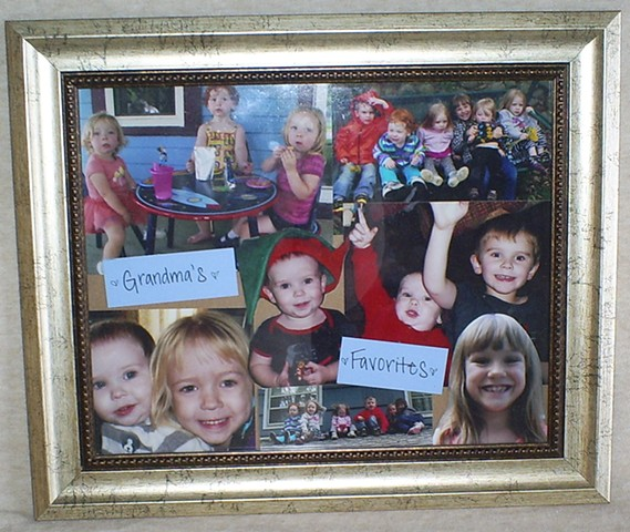 scrapbook collage frame for grandma by ashley seaman