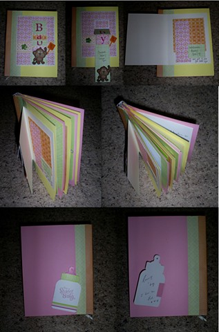 Baby shower card scrapbook